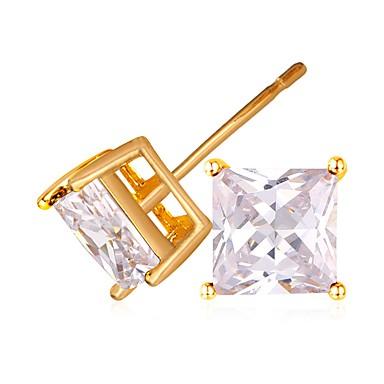 Γυναικεία Κουμπωτά Σκουλαρίκια κυρίες Μοντέρνα Επιχρυσωμένο Σκουλαρίκια Κοσμήματα Χρυσό / Ασημί Για Γάμου Καθημερινά Μασκάρεμα Πάρτι Αρραβώνων Χοροεσπερίδα Ημερομηνία