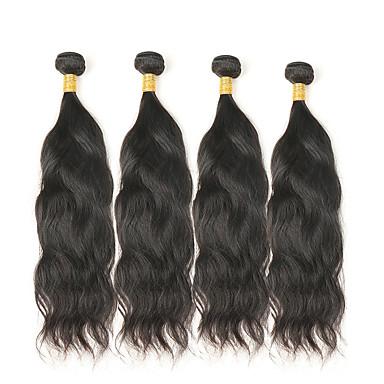 povoljno Ekstenzije od ljudske kose-4 paketića Mongolska kosa Prirodne kovrče Remy kosa Ljudske kose plete Isprepliće ljudske kose Proširenja ljudske kose / 10A