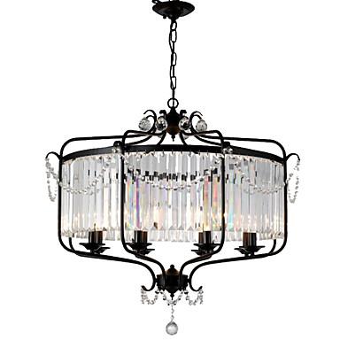 LightMyself™ 8-Light Πολυέλαιοι / Κρεμαστά Φωτιστικά Ατμοσφαιρικός Φωτισμός Βαμμένα τελειώματα Μέταλλο Κρυστάλλινο 110-120 V / 220-240 V Δεν συμπεριλαμβάνεται λαμπτήρας / E12 / E14