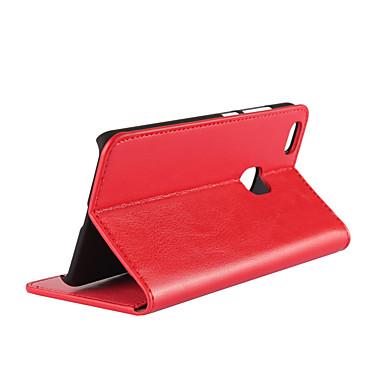 tok Για Huawei P10 Lite Θήκη καρτών / με βάση στήριξης / Ανοιγόμενη Πλήρης Θήκη Μονόχρωμο Σκληρή γνήσιο δέρμα