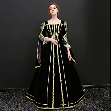 b2bfd2d381c71 Princess Queen Victoria Renaissance Costume Women's Dress Outfits Party  Costume Masquerade Black Vintage Cosplay 3/4 Length Sleeve Puff / Balloon  Sleeve ...