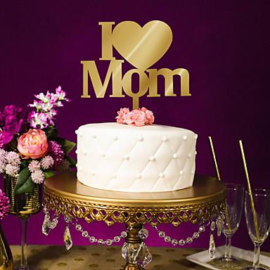 levne Party doplňky-Zvláštní příležitosti Akrylát Svatební dekorace Rodina Celý rok