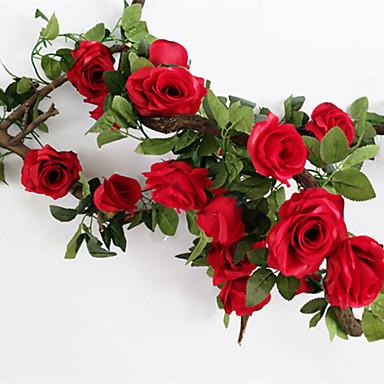Ψεύτικα λουλούδια 1 Κλαδί Γάμος Ευρωπαϊκό Στυλ Τριαντάφυλλα Λουλούδι Τοίχου