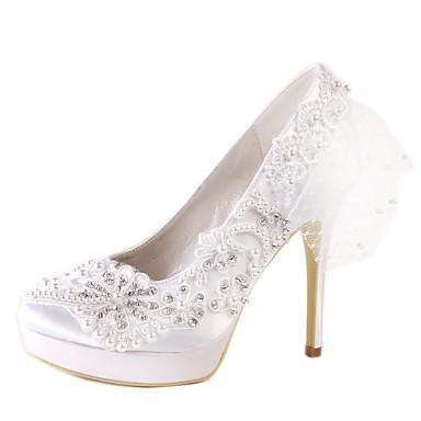 Chaussures de mariage talons dentelle mocassin