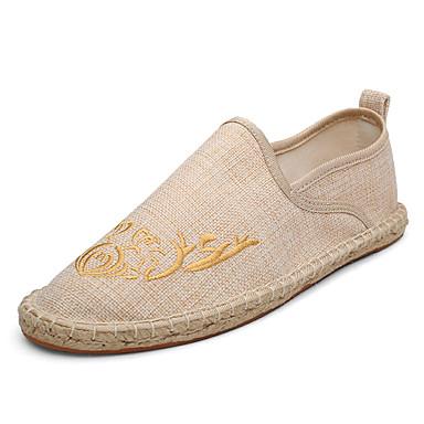 Ανδρικά Παπούτσια άνεσης Δίχτυ Καλοκαίρι Καθημερινό Μοκασίνια & Ευκολόφορετα Περπάτημα Αναπνέει Μαύρο / Μπεζ / Γκρίζο