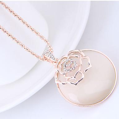 levne Dámské šperky-Dámské Kočičí oko Chrysoberyl Náhrdelníky s přívěšky dlouhý náhrdelník Dlouhé Květiny Kytky dámy Evropský Módní Opál Slitina Zlatá Náhrdelníky Šperky Pro Denní