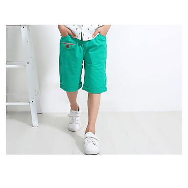 povoljno Odjeća za dječake-Djeca Dječaci Jednostavan Vintage Dnevno Jednobojni Vintage Style Bez rukávů Pamuk Lan Bambus vlakna Kratke hlače Djetelina