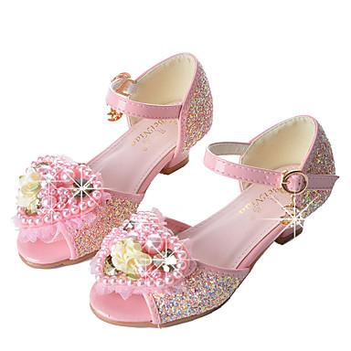 7bd3ceca7 Girls  Shoes Sparkling Glitter Spring   Summer Novelty   Flower Girl Shoes  Sandals Rhinestone   Beading   Sequin for Blue   Pink 6599539 2019 –  29.99