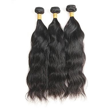 3 δεσμίδες Μογγολική Φυσικό Κυματιστό Remy Τρίχα Υφάνσεις ανθρώπινα μαλλιών Υφάνσεις ανθρώπινα μαλλιών Επεκτάσεις ανθρώπινα μαλλιών / 10A