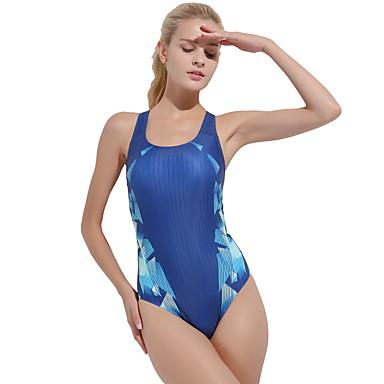 Γυναικεία Μαγιό Μεσαίου Πάχους Spandex Κορμάκι Αμάνικο Κολύμβηση Δραστική Εκτύπωση Άνοιξη, Φθινόπωρο, Χειμώνας, Καλοκαίρι