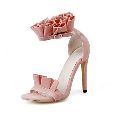 Mujer Zapatos PU Primavera verano Confort / Innovador Sandalias Tacón Stiletto Punta abierta Naranja / Amarillo / Rojo / Fiesta y Noche 33f8RCNBe