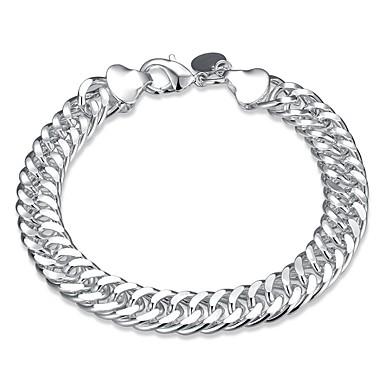 preiswerte Gliederarmband-Herrn Ketten- & Glieder-Armbänder Modisch Kupfer Armband Schmuck Silber Für Geschenk Alltag