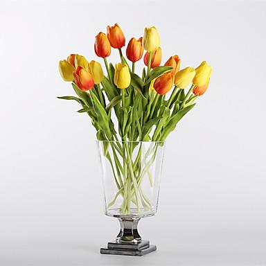 Ψεύτικα λουλούδια 10 Κλαδί Μοντέρνα Ευρωπαϊκό Στυλ Τουλίπες Λουλούδι για Τραπέζι