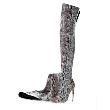 Mujer Zapatos Vellón / Materiales Personalizados Invierno Innovador Botas Plataforma Dedo redondo Negro / Beige / Rojo jW2xih1cP