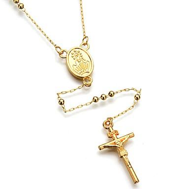 Ανδρικά Γυναικεία Y κολιέ Cruce Μοντέρνα Κράμα Χρυσό Κολιέ Κοσμήματα Για Καθημερινά