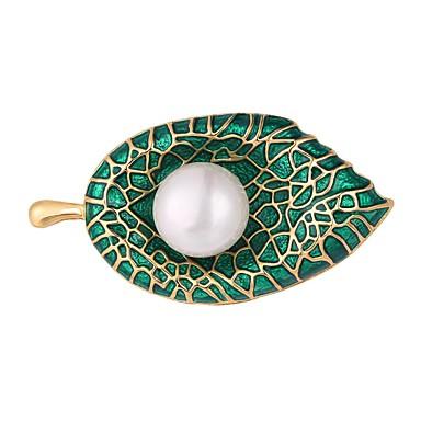 Γυναικεία Καρφίτσες Leaf Shape κυρίες Απλός Μοντέρνα Επιχρυσωμένο Καρφίτσα Κοσμήματα Ασημί Χρυσαφί Για Βραδινό Πάρτυ Χοροεσπερίδα