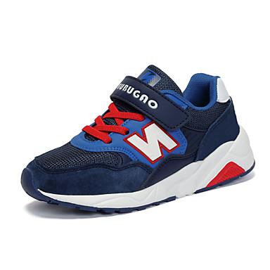 Hombre Zapatos Tul Primavera / Otoño Confort Zapatillas de deporte Azul Oscuro / Rojo / Negro / Rojo yCb32m