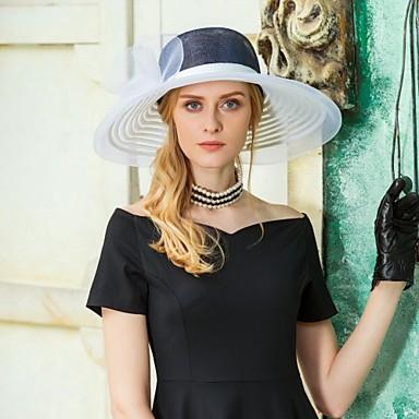 preiswerte Partyhut-Tüll / Flachs Fascinatoren / Hüte mit Blumig 1pc Hochzeit / Party / Abend Kopfschmuck