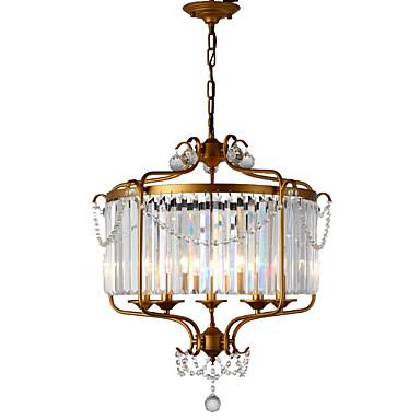 LightMyself™ 5-Light Lysekroner / Anheng Lys Omgivelseslys Malte Finishes Metall Krystall 110-120V / 220-240V Pære ikke Inkludert / E12 / E14