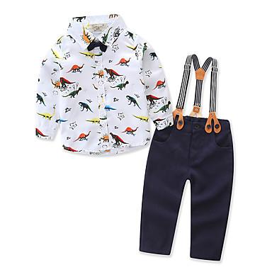 povoljno Odjeća za dječake-Dijete koje je tek prohodalo Dječaci Jednostavan Ležerne prilike Party Dnevno Životinja Sportski Životinjski uzorak Dugih rukava Regularna Normalne dužine Pamuk Komplet odjeće Obala
