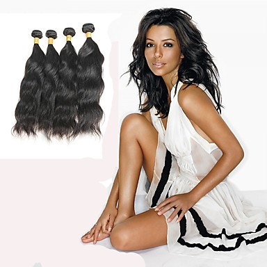 povoljno Ekstenzije od ljudske kose-4 paketića Indijska kosa Prirodne kovrče Remy kosa Ljudske kose plete Isprepliće ljudske kose Proširenja ljudske kose / 10A