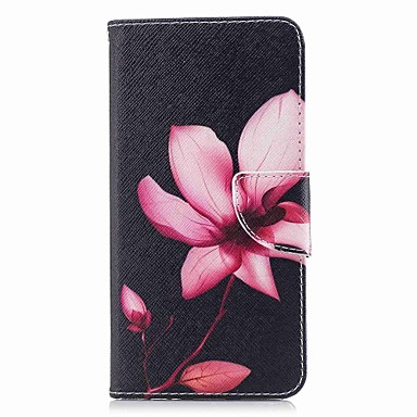 tok Για Huawei P10 Lite / P10 / P9 lite mini Πορτοφόλι / Θήκη καρτών / με βάση στήριξης Πλήρης Θήκη Λουλούδι Σκληρή PU δέρμα