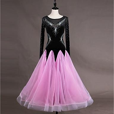 Επίσημος Χορός Φορέματα Γυναικεία Εκπαίδευση Οργάντζα Βελούδο Κρύσταλλοι / Στρας Μακρυμάνικο Ψηλό Φόρεμα