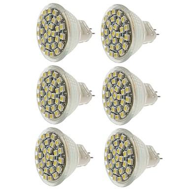 SENCART 6pcs 2 W LED Σποτάκια 140-180 lm MR11 MR11 30 LED χάντρες SMD 3528 Διακοσμητικό Θερμό Λευκό Ψυχρό Λευκό Κίτρινο 12 V