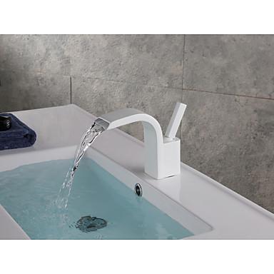 Μπάνιο βρύση νεροχύτη - Καταρράκτης / Εκτεταμένο Βαμμένα τελειώματα Montaj Punte Ενιαία Χειριστείτε μια τρύπαBath Taps