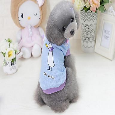 Σκυλιά Πουλόβερ Χειμώνας Ρούχα για σκύλους Βυσσινί Μπλε Στολές Βαμβακερό / Πολυεστέρας Ζώο Καθημερινά χαριτωμένο στυλ Τ M L XL XXL