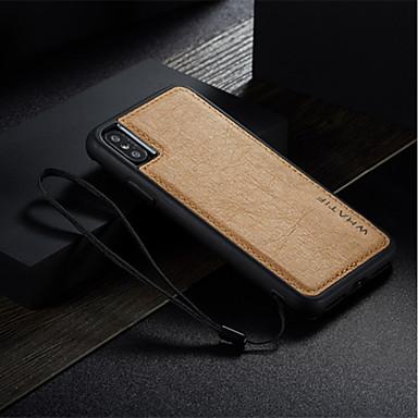 tok Για Apple iPhone X Ανθεκτική σε πτώσεις / Εξαιρετικά λεπτή / Φτιάξτο Μόνος Σου Πίσω Κάλυμμα Μονόχρωμο Σκληρή PU δέρμα