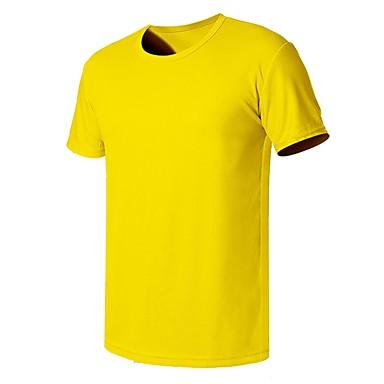 Ανδρικά Συμπαγές Χρώμα Tricou de Drumeție Κοντομάνικο Εξωτερική Αναπνέει Γρήγορο Στέγνωμα Ελαστικό Anti Transpirație Φανέλα Μπολύζες Καλοκαίρι Πολυεστέρας Στρογγυλή Ψηλή Λαιμόκοψη Κίτρινο Κόκκινο Μπλε