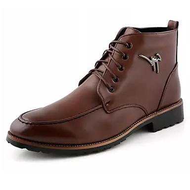 Hombre Zapatos Goma Primavera / Otoño Confort Botas Negro / Marrón s0DDBv2
