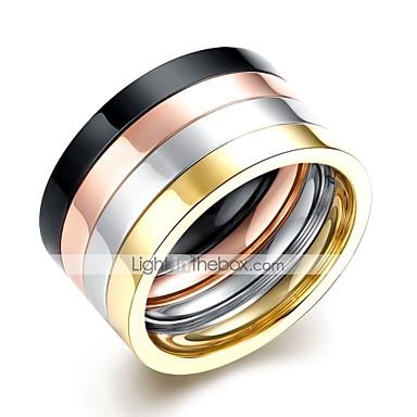 levne Pánské šperky-Pánské Sada kroužků 4ks Duhová Nerez Circle Shape Rokové Denní Práce Šperky Cool