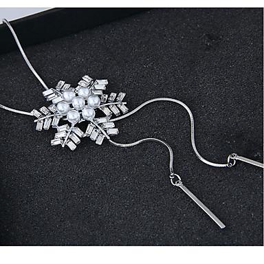 povoljno Modne ogrlice-Žene Ogrlice s privjeskom Duga ogrlica Pahulja Europska Moda Legura Pink 70 cm Ogrlice Jewelry Za Party