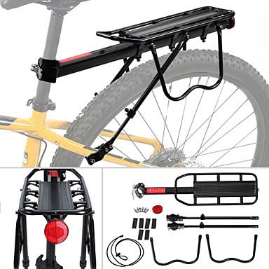 billige Sykkeltilbehør-Bike Cargo Rack Maks Lasting 50 kg Justerbare Fort Frigjøring Enkel å installere Aluminum Alloy Fjellsykkel Veisykling - Svart