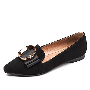 Mujer Zapatos Cuero Nobuck Primavera / Otoño Confort Zapatos de taco bajo y Slip-On Tacón Plano Negro / Marrón Claro Vente Boutique NJZ8Xi