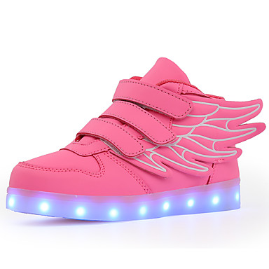 cheap Kids' LED Shoes-Boys' / Girls' Sneakers LED / LED Shoes / USB Charging PU Little Kids(4-7ys) / Big Kids(7years +) Walking Shoes Buckle / LED / Luminous White / Black / Red Fall / Winter / Rubber