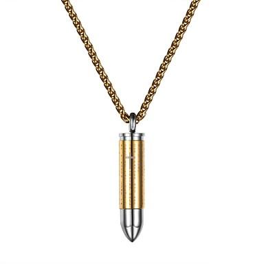 levne Pánské šperky-Pánské Dámské Náhrdelníky s přívěšky Módní Nerez Zlatá Černá Stříbrná 55 cm Náhrdelníky Šperky Pro Denní