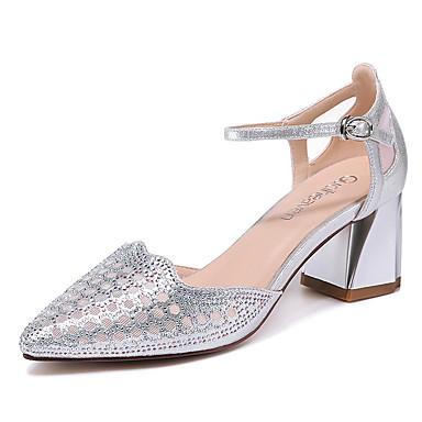 Populaire En Ligne Mujer Zapatos Brillantina Verano / Otoño Gladiador / Pump Básico Tacones Tacón Cuadrado Dorado / Negro / Fiesta y Noche Nice Jeu Pour Pas Cher 0K7k9