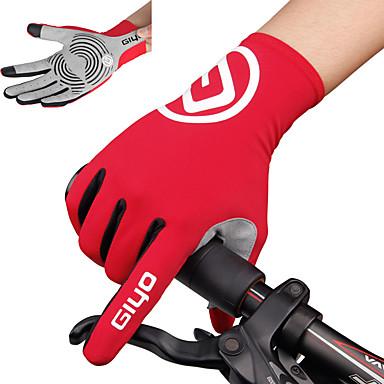 povoljno Biciklističke rukavice-Zima Biciklističke rukavice Rukavice za brdski bicikl Brdski biciklizam biciklom na cesti Ugrijati Prozračnost Anti-Slip Izzadás-elvezető Cijeli prst Aktivnost / Sport Rukavice Crn Sky blue Bijela za