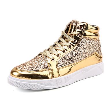 สำหรับผู้ชาย รองเท้าสบาย ๆ Synthetics ฤดูใบไม้ผลิ / ตก คลาสสิก / ไม่เป็นทางการ รองเท้าผ้าใบ รักษาให้อุ่น สีดำ / สีทอง / สีเงิน / พรรคและเย็น / เลื่อม / พรรคและเย็น