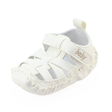 f8841c3ab96 Boys    Girls  Shoes Leatherette Spring Comfort   First Walkers   Crib Shoes  Flats Magic Tape for Baby Beige   Coffee   Brown  06636616