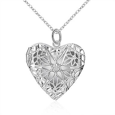 levne Pánské šperky-Pánské Dámské Náhrdelníky s přívěšky Srdce Evropský Módní Svítící Slitina Stříbrná 45 cm Náhrdelníky Šperky Pro Svatební Denní Plesová maškaráda Zásnuby Maturitní ples