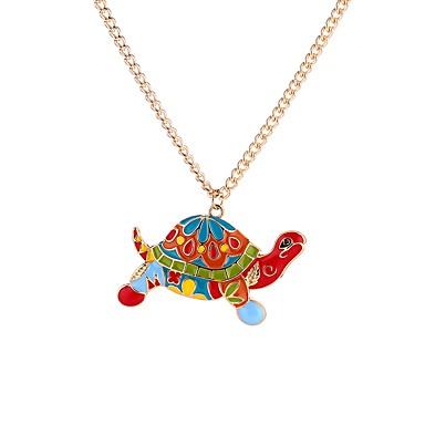 povoljno Modne ogrlice-Muškarci Ogrlice s privjeskom Kornjača Sa životinjama Duga Crtići Gotika Opeka Legura Duga 65 cm Ogrlice Jewelry Za Ulica Voljeni