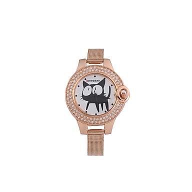levne Dámské-SHI WEI BAO Dámské Dětské Hodinky na běžné nošení Módní hodinky Unikátní Creative hodinky Křemenný Nerez Růžové zlato Hodinky na běžné nošení Analogové dámy Módní - Růžové zlato Jeden rok Životnost