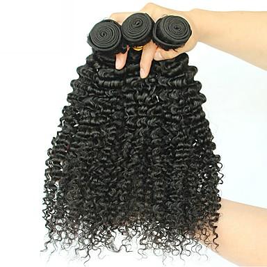 3 δεσμίδες Βραζιλιάνικη Kinky Curly Φυσικά μαλλιά Εξτένσιον από Ανθρώπινη Τρίχα 8-28 inch Φυσικό Χρώμα Υφάνσεις ανθρώπινα μαλλιών επέκταση Hot Πώληση Επεκτάσεις ανθρώπινα μαλλιών / 8A