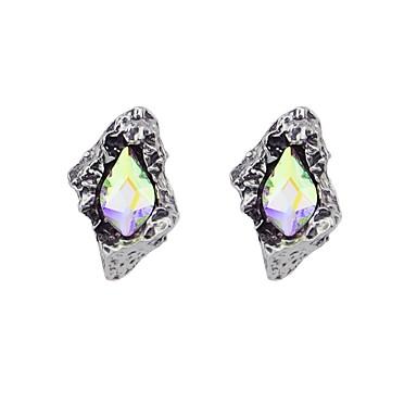 levne Dámské šperky-Turmalín Peckové náušnice dámy Módní Náušnice Šperky Stříbrná / Zelená Pro Dar Rande