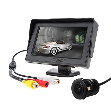 ziqiao 4,3 tommers skjerm og ccd hd bil bakfra kamera
