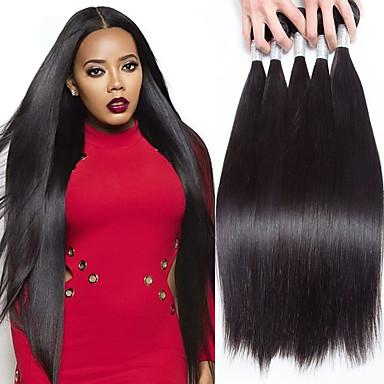 povoljno Ekstenzije od ljudske kose-5 paketića Peruanska kosa Ravan kroj Ljudska kosa Ljudske kose plete Jedan Pack Solution Ekstenzije od ljudske kose Natural Isprepliće ljudske kose Nježno neprerađenih Proširenja ljudske kose / 8A